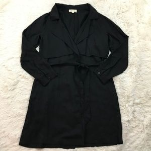 Anthropologie Cloth & Stone Wrap Trench Coat
